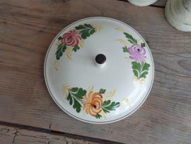Apart Boerenbont Societe Ceramique decor Kamperfoelie los Deksel voor Dekschaal Terrine