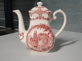 Engels rood Staffordshire Koffie-Theepot