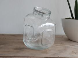 Brocante glazen Voorraadpot