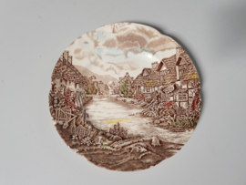 Engels bruin Johnson Bros Olde English Countryside Ontbijtbordje 20 cm