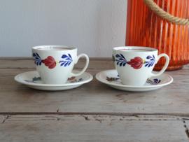 Boerenbont Boch Aanbieding 2x Koffie Kop en schotel Audrey