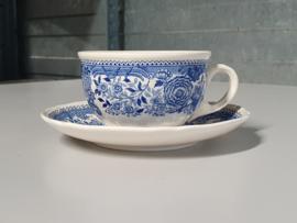 Burgenland blauw Thee Kop en schotel Ø 9 cm
