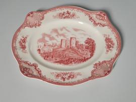 Engels rood  Old Britain Castles Serveerschaal 28,5 cm (plat - rechthoek)