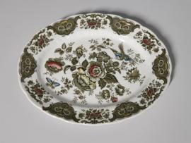 Engels Ridgway Windsor gekleurd ovale Serveerschaal 31 cm