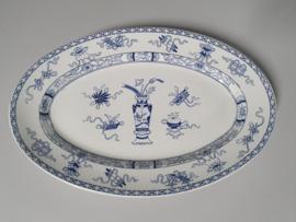 Potiche blauw Societe Ceramique robuuste Serveerschaal 41 cm (ovaal)