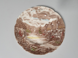 Engels bruin Johnson Bros Olde English Countryside Plat Dinerbord 25,5 cm