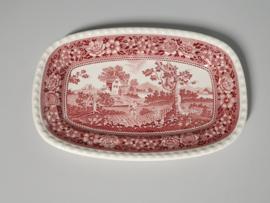 Rusticana rood middelgrote Serveerschaal 30,5 x 20 cm