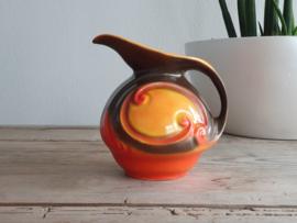 Mosa Maastricht Art Deco Snavelkan oranje met bruin