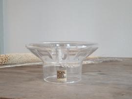 Leerdam Glas Vintage Kaarsenkandelaar