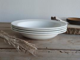 Regout wit set 4x Diep Soep Pasta Bord 24 cm