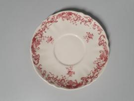 Oud Valeria rood Onderschotel voor Soepkom 17 cm