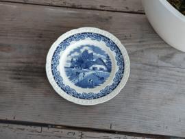 Boerenhoeve SC blauw Ontbijtbordje 20,5 cm
