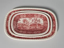 Rusticana rood set 3x Serveerschaal