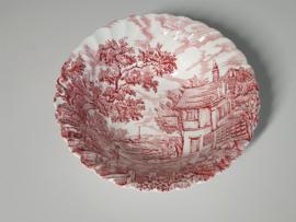 Engels rood The Hunter by Myott ronde Serveerschaal 24 cm