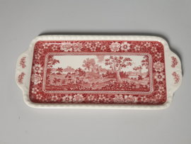 Rusticana rood Cakeschaal / Serveerplateau