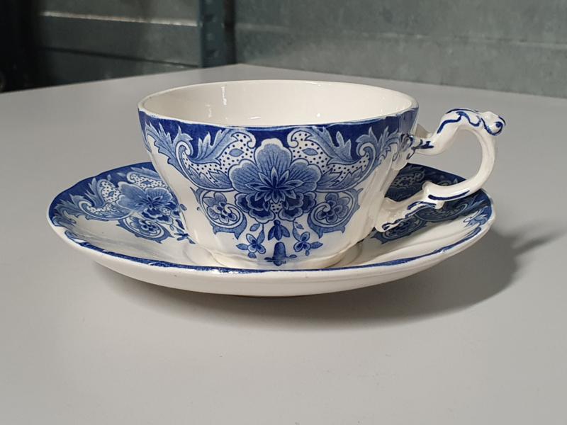 Boch BFK decor Dordrecht blauw Thee Kop en schotel
