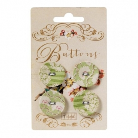 Apple Bloom Button 4 pcs