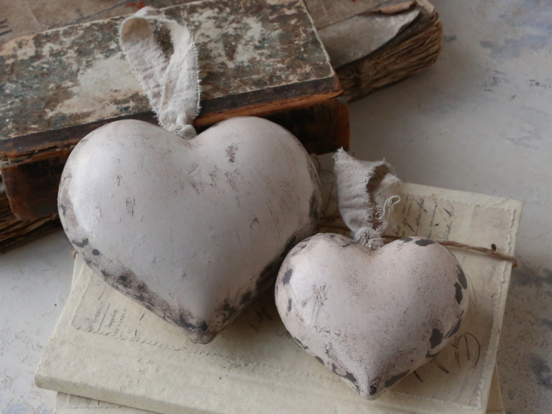 Heart with ribbon 11 x 12 cm