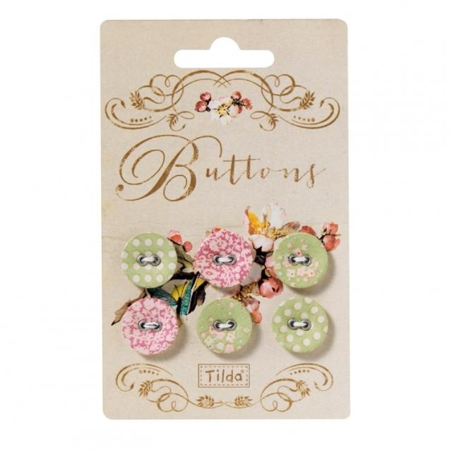 Apple Bloom Button 6 pcs
