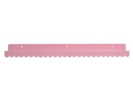 Wandplank licht roze metaal 50cm
