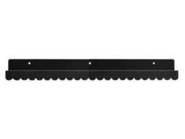 Wandplank Zwart metaal 50cm