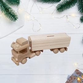 Vrachtwagen met oplegger spaarpot