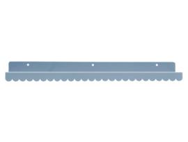 Wandplank lichtgrijs metaal 50cm