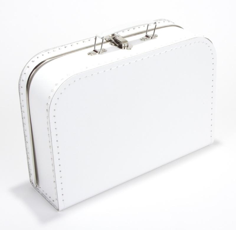 Koffertje wit 30cm