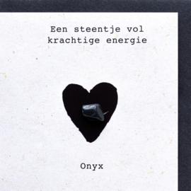 Wenskaart edelsteen - Onyx
