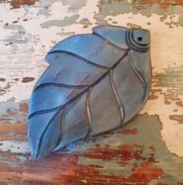 Blauw parelmoer blad