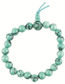 Turkoois (gekleurde) powerbead armband