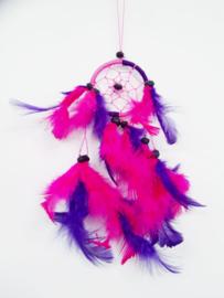 Paars / Roze - met zwarte kraal - 6 cm