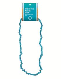 Edelsteen splitketting  blauwe Howliet