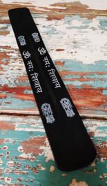 Wierookplankje 25 cm - zwart wit * hindi