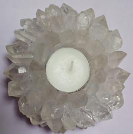 Waxine licht houder Bergkristal / ~365 gram