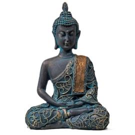 Boeddha in Meditatie antiek look - Thailand