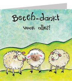 Wenskaart - Beehdankt