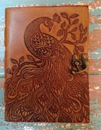 Leatherlook dagboek Pauw