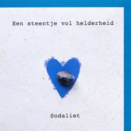 Wenskaart edelsteen - Sodaliet