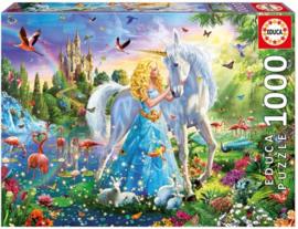 Prinses en de Eenhoorn - 1000 - puzzel