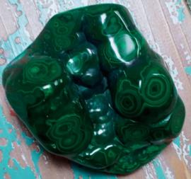Geslepen Malachiet - 460 gram