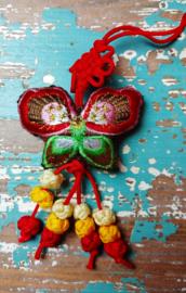 Tibetaanse geluks Vlinder - rood