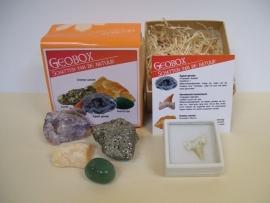 Mineralen en fosielen doos