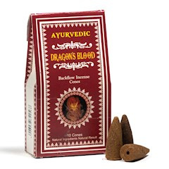 Ayurvedische Dragons Blood backflow wierookkegels