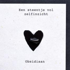 Wenskaart edelsteen - Obsidiaan