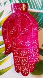 Wierookbrander Hamsa Hand - roze