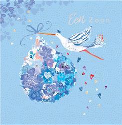 M2212 - Floral Baby Blue Boy