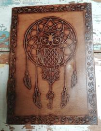 Leatherlook dagboek Dreamcatcher / Uil