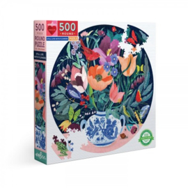 Still Life with Flowers - 500 - ronde puzzel