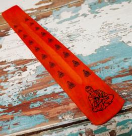 Wierookplankje 25 cm - oranje * buddha